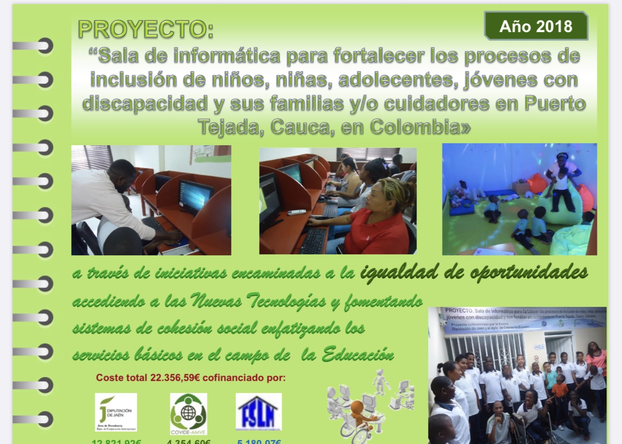 La Diputación de Jaén subvenciona una sala de informática en Colombia