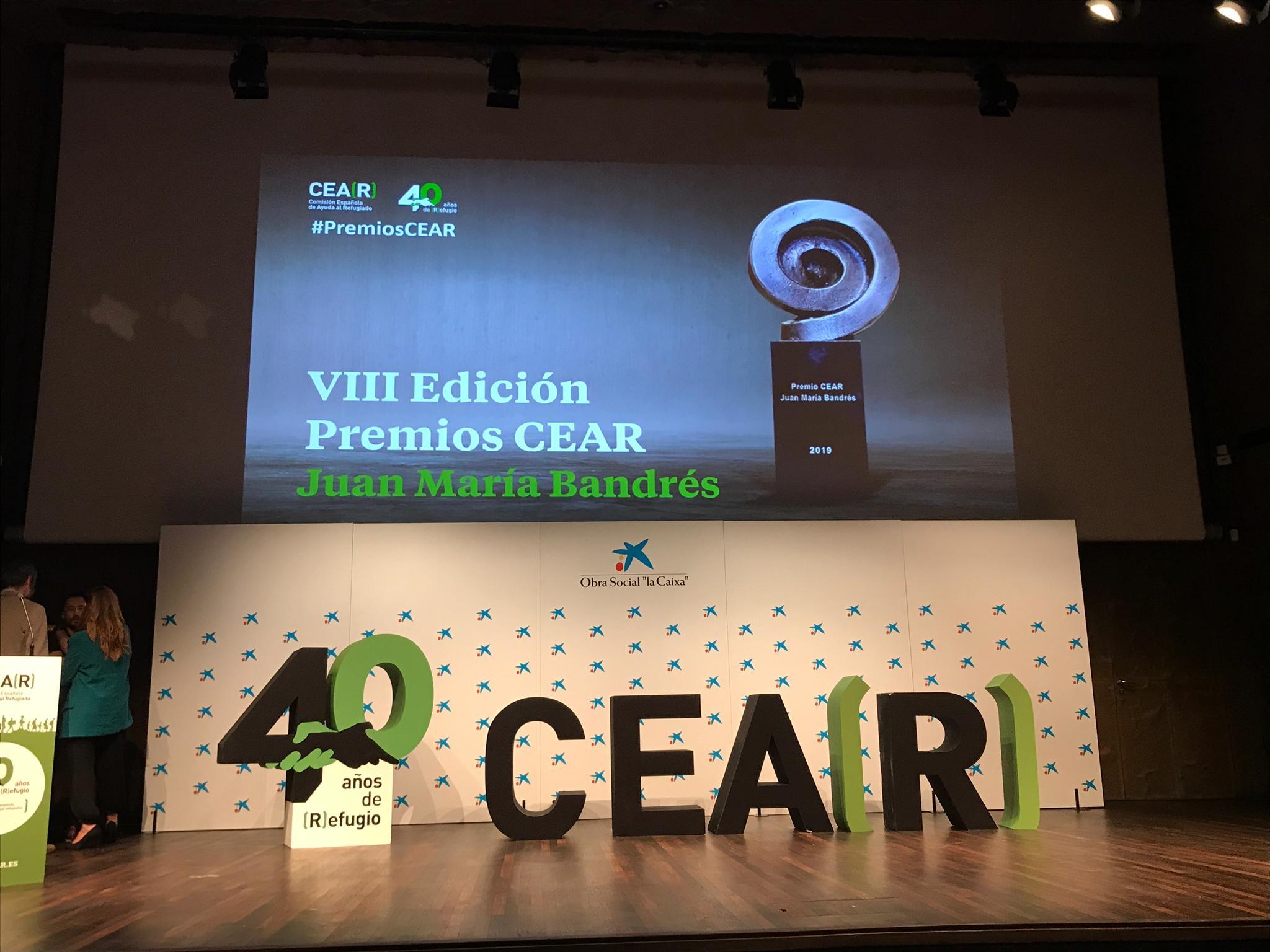 Covide-Amve se une a la felicitación al colegio SANTA ISABEL por el premio CEAR de Categoría ACCIONES POR EL REFUGIADO 2019