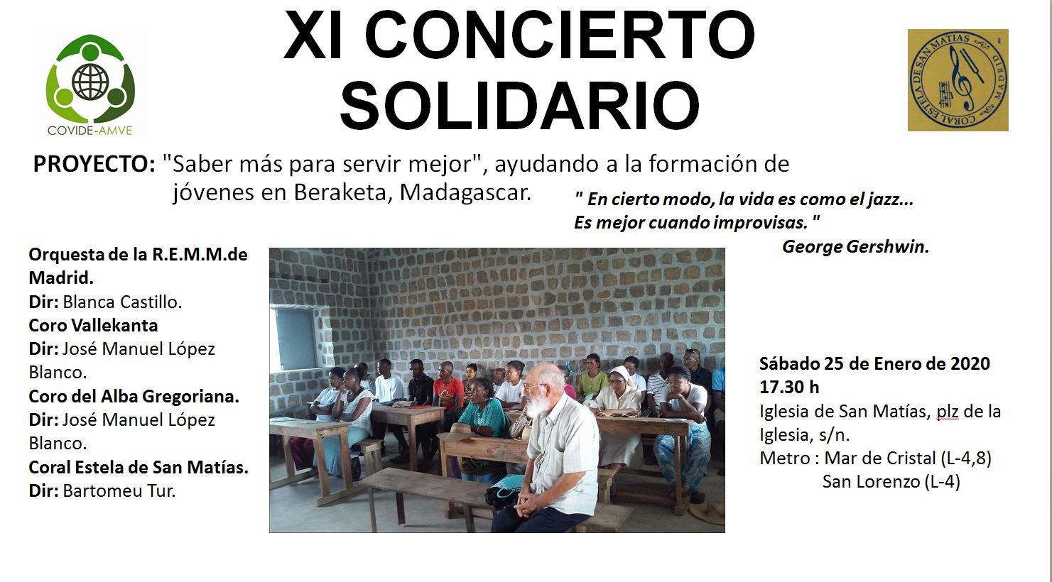 XI Concierto Solidario de la Parroquia San Matías (Madrid)
