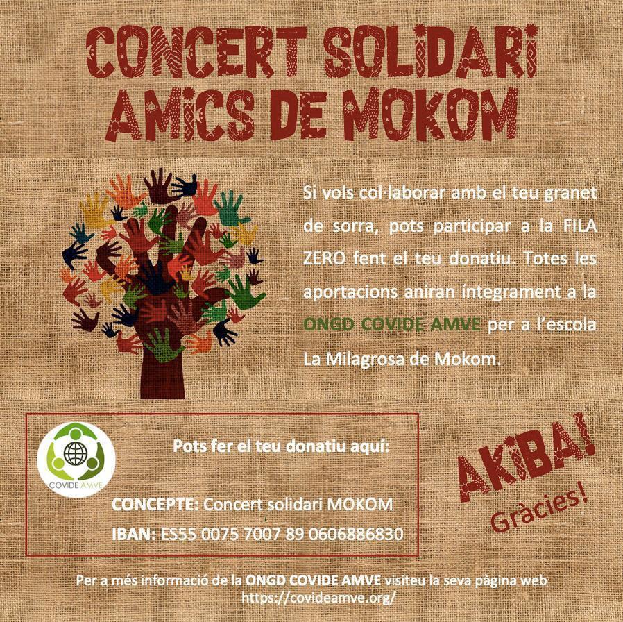 Concierto solidario Los Amigos de Mokom