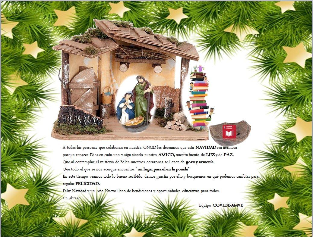 Os deseamos una Feliz Navidad y un Año Nuevo lleno de bendiciones